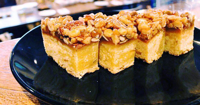 【旅の食卓】モンゴル:松の実とオレンジとモンゴル岩塩のキャラメルケーキ