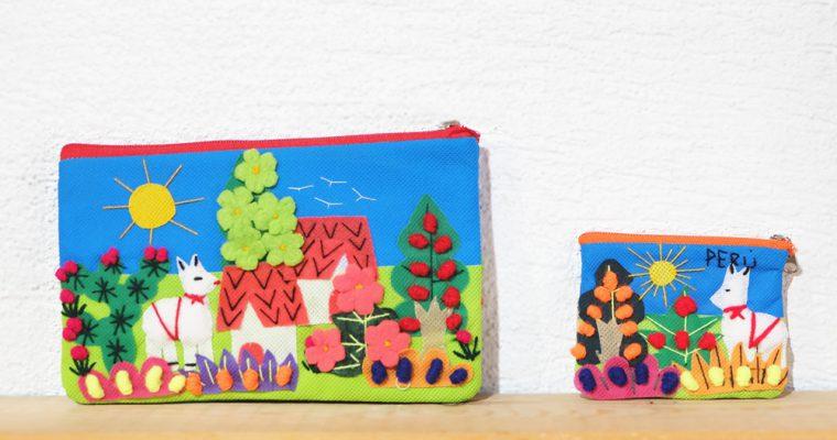 【旅と手しごと】ペルー・リマのミラフローレス:手織りのバッグとリャマのカラフルポーチ
