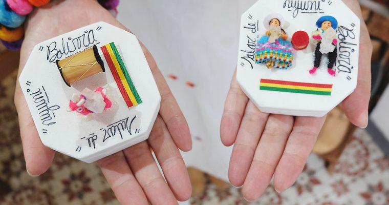 【旅と手しごと】ボリビア・天空の鏡ウユニ塩湖:塩のホテルとコルチャニ村の小物入れ